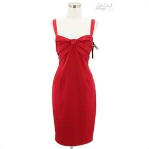 A42 NEW DAVID MEISTER Designer Dress Size 10 Red
